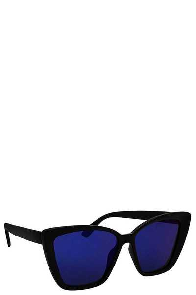 POLYCARBONATE SQUARE CAT EYE SUNGLASSES