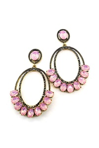 DESIGNER STYLISH RHINESTONE DROP EARRING