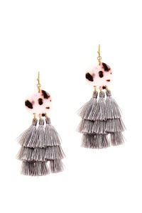 FASHION TASSEL DROP CUTE EARRING