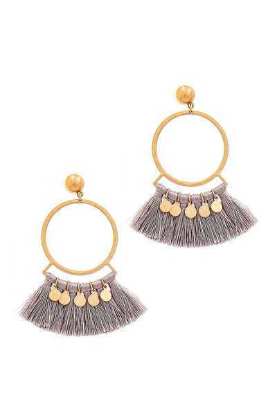 DESIGNER FASHION FAN TASSEL EARRING