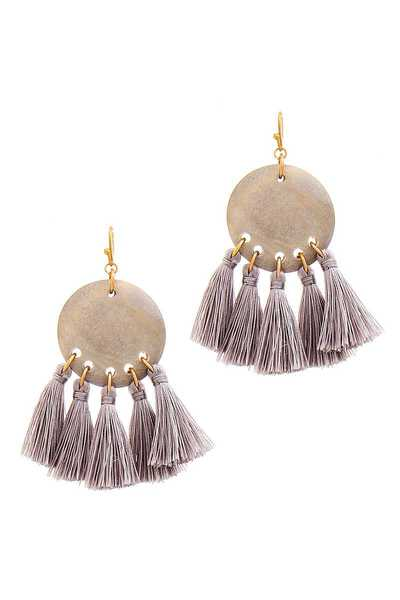 FASHION MULTI TASSEL CUTE DROP EARRING