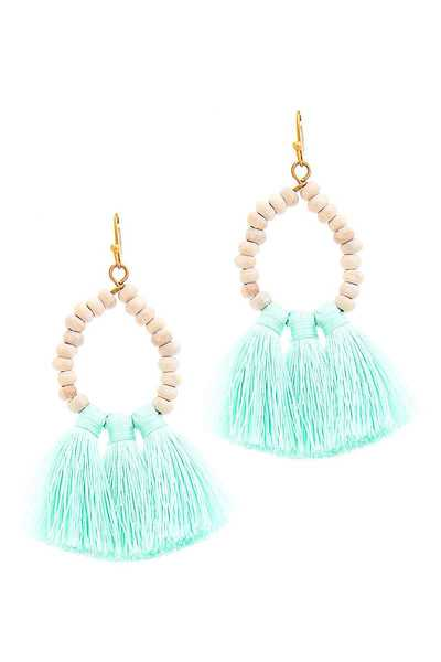DESIGNER TRIPLE TASSEL DROP EARRING