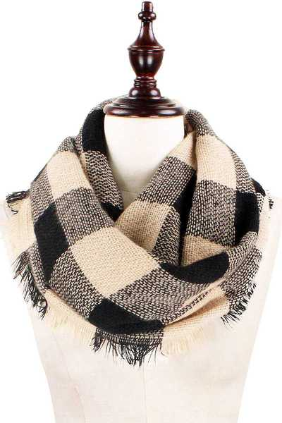 RUSTIC PLAID INFINITY SCARF