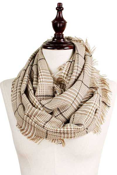 GLEN CHECK INFINITY SCARF