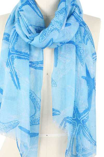 FASHION STARFISH PRINT SCARF