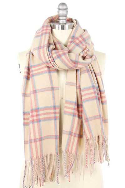 SOFT COZY PLAID OBLONG SCARF