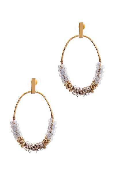 STYLISH CHIC OVAL BEAD EARRING