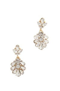 RHINESTONE POST DROP EARRING
