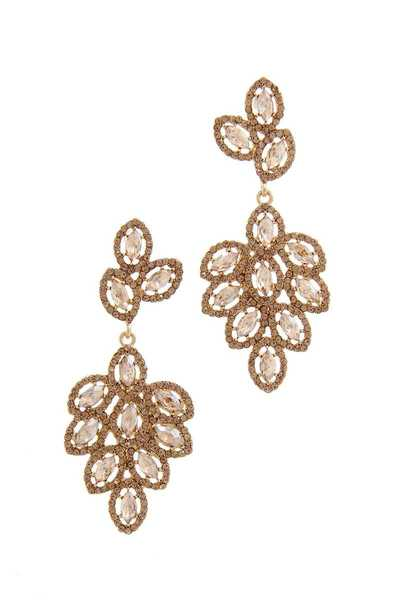 MARQUISE SHAPE RHINESTONE DANGLE DROP EARRING