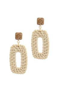 RECTANGULAR SHAPE POST DROP EARRING