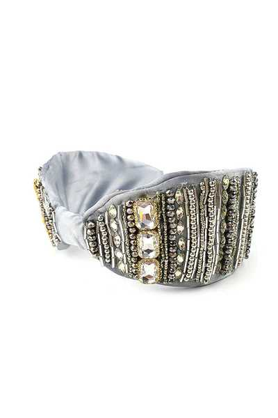 FASHION MULTI LAYER LINED RHINESTONE DESIGN HEAD BAND