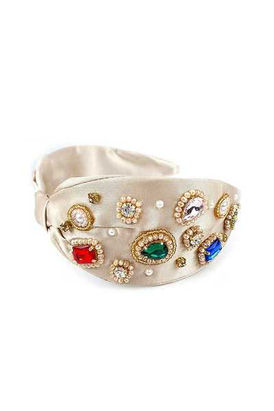 FASHIONABLE RHINESTONE CRYSTAL SHAPE DESIGN HEAD BAND