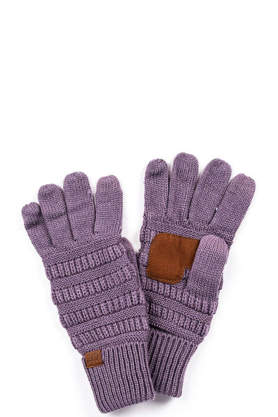 CC solid touch screen compatible gloves
