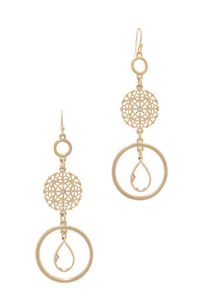 CIRCLE DANGLE DROP EARRING