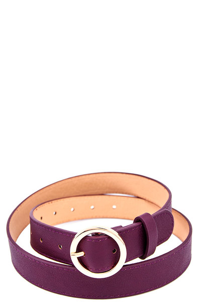 Fashion Round Buckle Belt