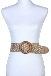ROUND BUCKLE PULL THROUGH BELT