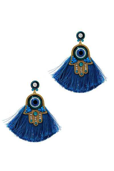 MODERN FASHION FAN TASSEL EARRING
