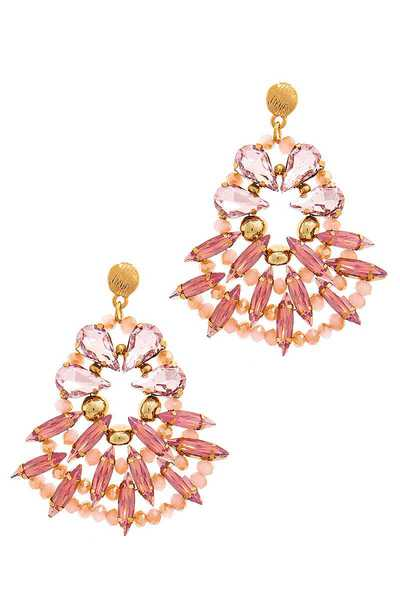 MODERN MULTI RHINESTONE DROP EARRING