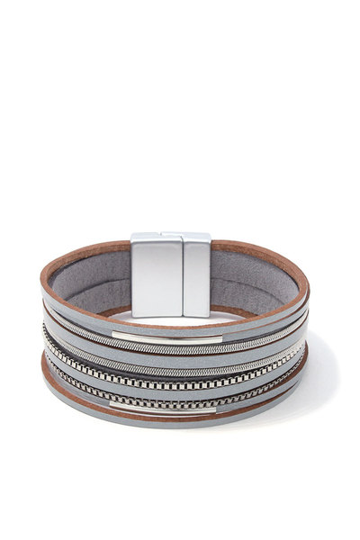 METAL LAYERED MAGNETIC BRACELET