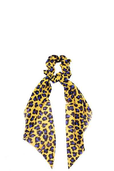 MODERN LEOPARD PRINT SCARF PONY TAIL HAIR SCRUNCHIE