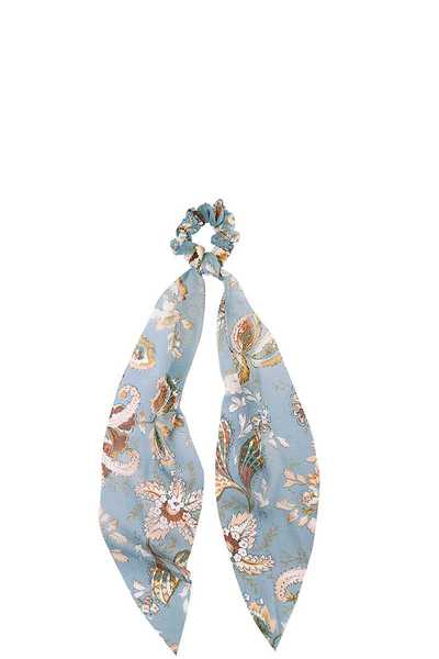 TRENDY STYLISH FLORAL PRINT SCARF PONY HAIR SCRUNCHY