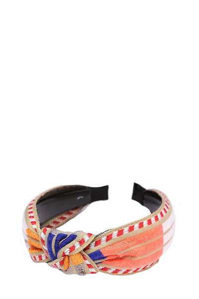 MULTI COLOR BOHO STRIPE KNOTTED HEAD BAND