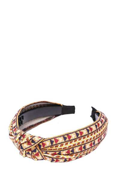 DESIGNER TRIBAL PRINT KNOTTED HEADBAND