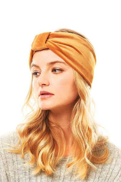 SOFT FLEECE  LINKLE LINE HEAD BAND