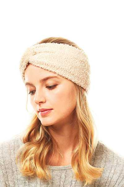 STYLISH SOFT FLEECE TWISTED HEAD BAND