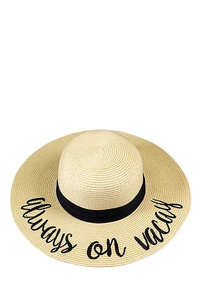 STYLISH ALWAYS ON VACAY FLOPPY SUN HAT