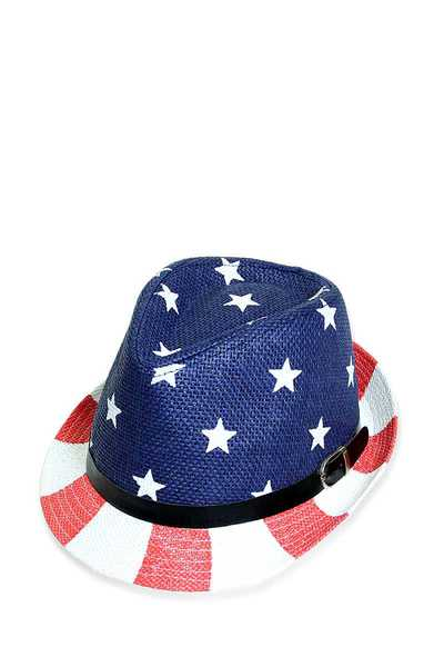 DESIGNER USA FLAG FEDORA HAT