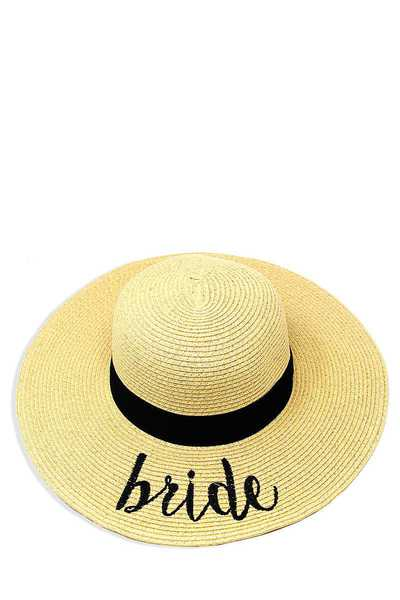 BRIDE EMBROIDERED FLOPPY SUN HAT
