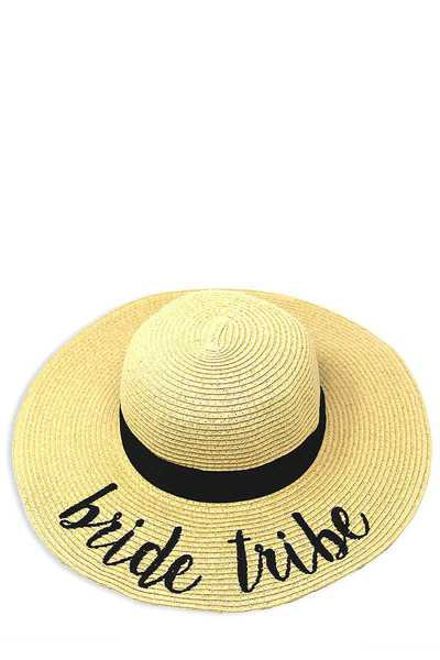 BRIDE TRIBE EMBROIDERED FLOPPY SUN HAT