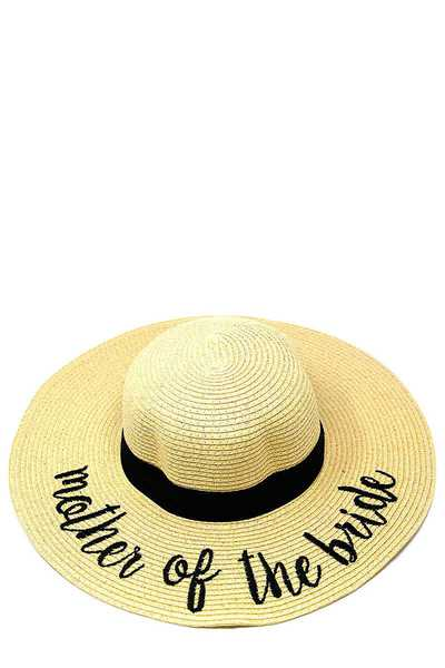 MOTHER OF THE BRIDE EMBROIDERED FLOPPY SUN HAT