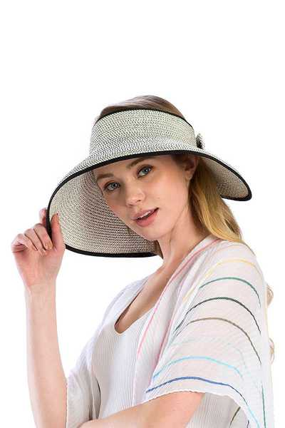 FASHION STYLISH ROLL UP VISOR HAT