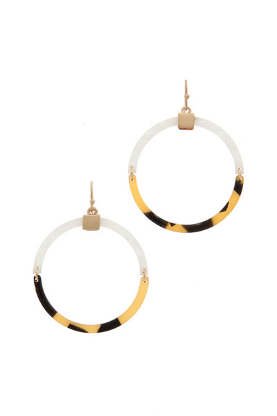 ACETATE ROUND DROP EARRING