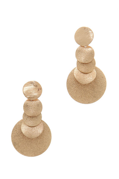 CIRCLE POST DROP EARRING