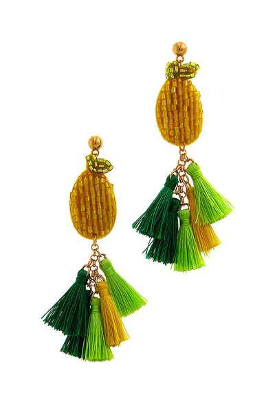 MODERN MULTI TASSEL DROP EARRING