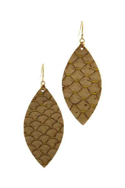 FASHION CHIC SCALE PATTERN DROP EARRING