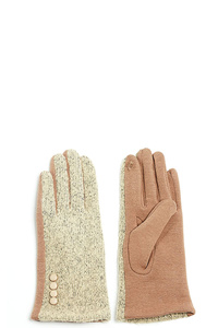 TWO-TONE TRIM GLOVES