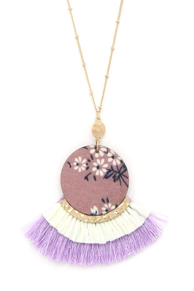 CIRCEL FAN TASSEL PENDANT NECKLACE