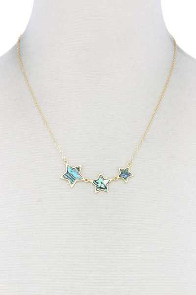 ABALONE STAR CHARM NECKLACE