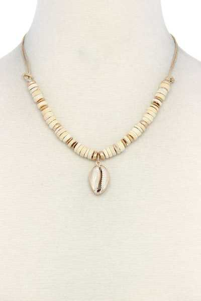 COWRIE SHELL CHARM NECKLACE