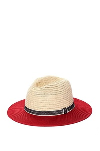 TWO TONE COLOR PANAMA FEDORA HAT