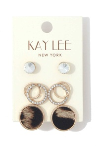 ROUND STUD EARRING SET