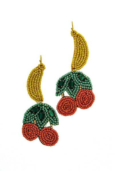 STYLISH MULTI BEAD DROP EARRING