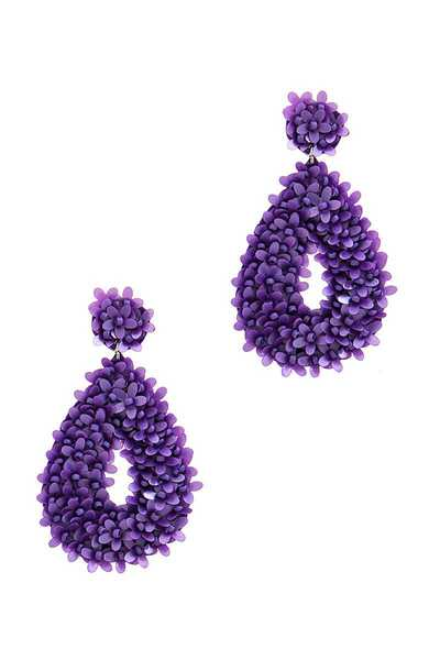 DESIGNER MULTI BEAD FLOWER TEAR DROP EARRING