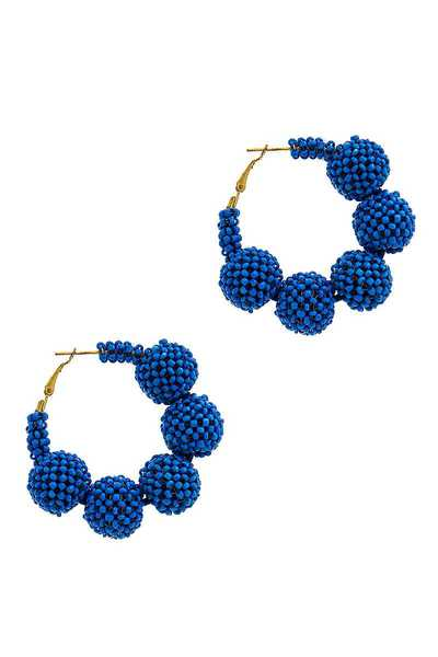 DESIGNER BEADED STYLISH HOOP EARRING