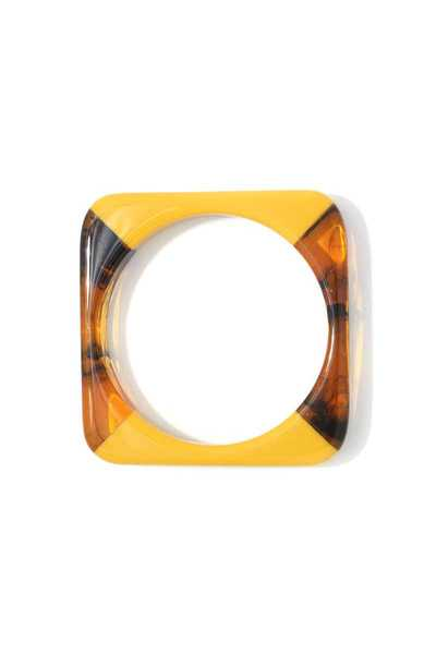 TWO TONE ACETATE SQUARE SHAPE BANGLE