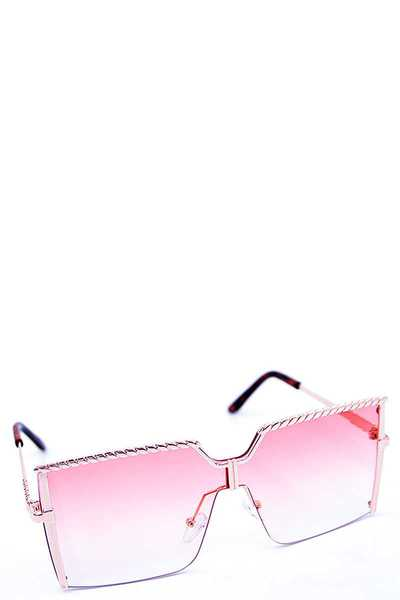 MODERN SQUARE COLOR SUNGLASSES 1 DOZEN